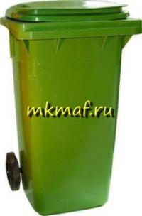 Контейнер для мусора 120л. пластик, на обрезин. колесах