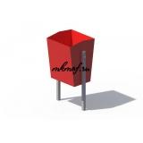 ДХО 01100 Урна металлическая красная