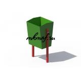 ДХО 01090 Урна металлическая зеленая