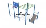 СОВ 04310 Кроссфит Рукоход со скамьей для пресса