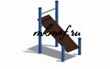 СОВ 04430 Кроссфит Скамья для пресса наклонная
