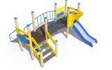 ДИО 04013 Детский игровой комплекс серии литл с металлическим скатом Н-750