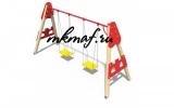 ИО 01061 Качели деревянные Крепость (сиденье без спинки)