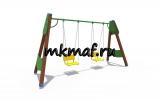 ИО 01165 Качели деревянные полянка (сиденье со спинкой)