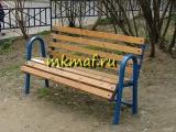 Скамейка парковая со спинкой, закругленная СН-13