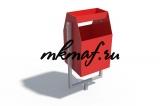 ДХО 01070 Урна металлическая с пепельницей красная