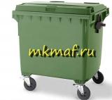 Контейнер для мусора пластиковый с крышкой на обрезин.колесах