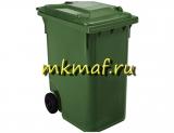 Контейнер для мусора пластиковый на обрезин. колесах 240 л
